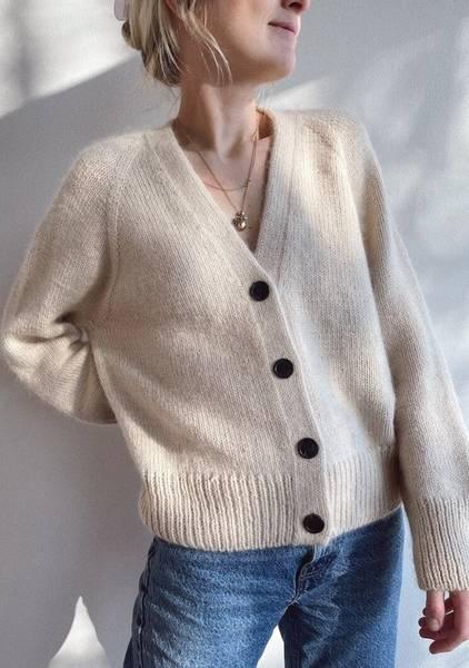 Bilde av Champagne Cardigan - Petite Knit